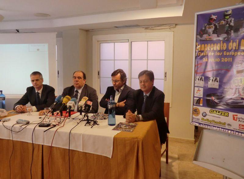 Presentado el Campeonato del Mundo de Karting que se celebra en Zuera el 24 de julio