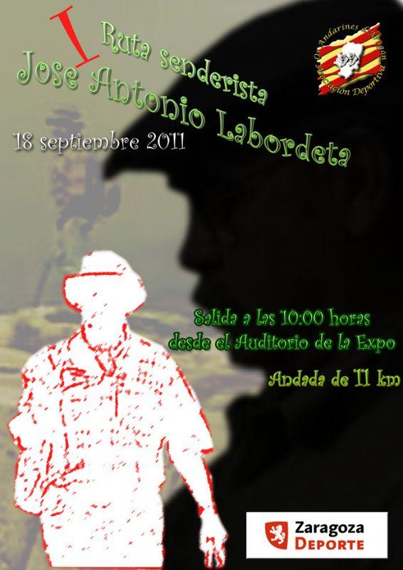Se encuentra abierto el período de inscripción para la ANDADA MEMORIAL José Antonio LABORDETA que se celebrará en Zaragoza el próximo día 18 de septiembre.