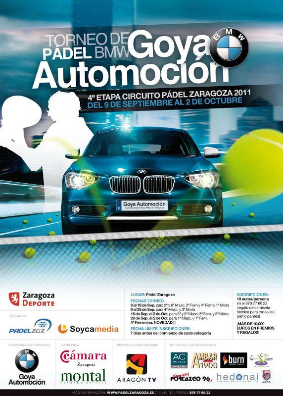 Torneo de Pádel BMW Goya Automoción.  4ª etapa Circuito Padel Zaragoza 2011