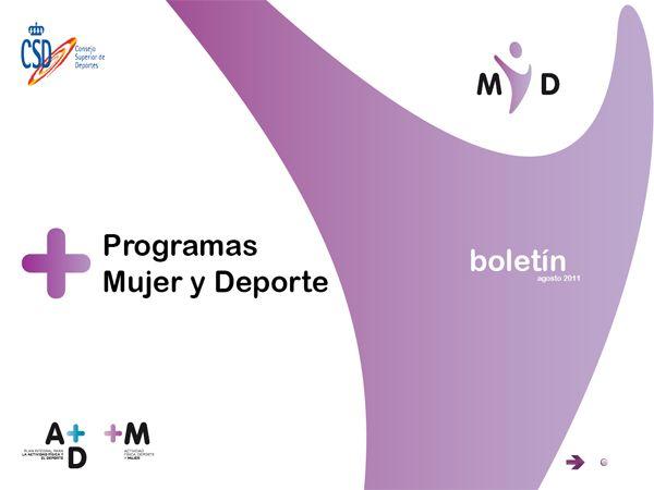 El Consejo Superior de Deportes lanza el segundo número del boletín «Programas Mujer y Deporte»