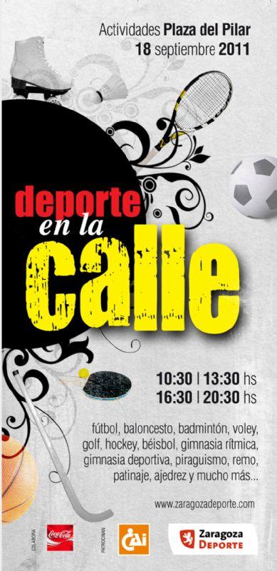 La plaza del Pilar se convertirá en un gran  terreno de juego para celebrar el domingo el «Día del Deporte en la Calle»