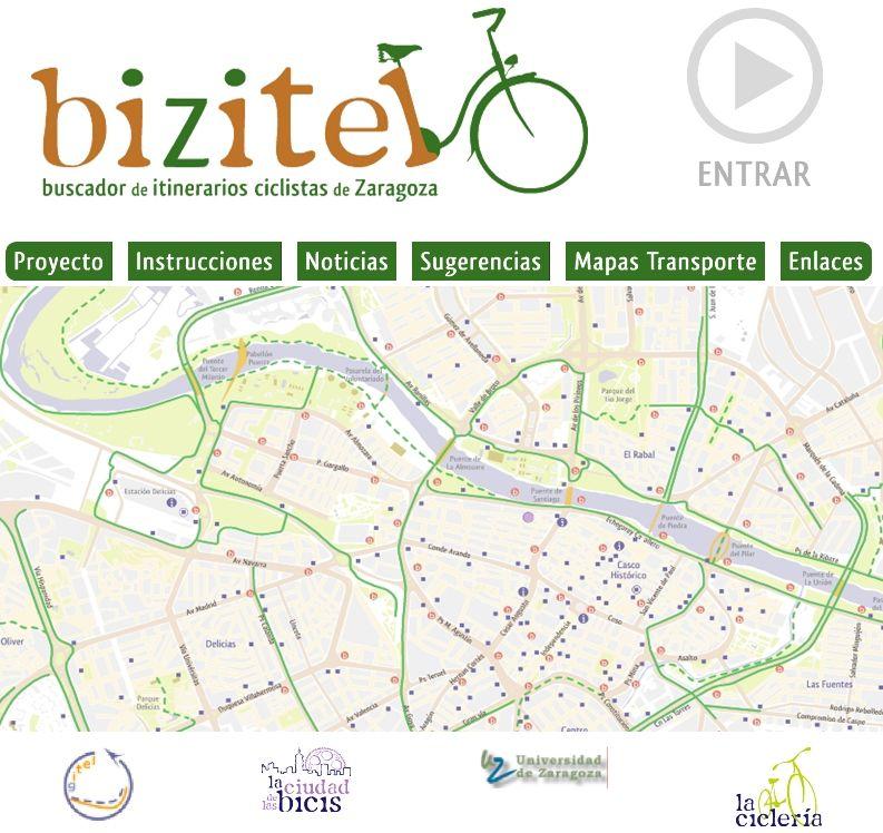 La Ciclería presenta «Bizitel», un calculador de rutas ciclistas por la ciudad de Zaragoza