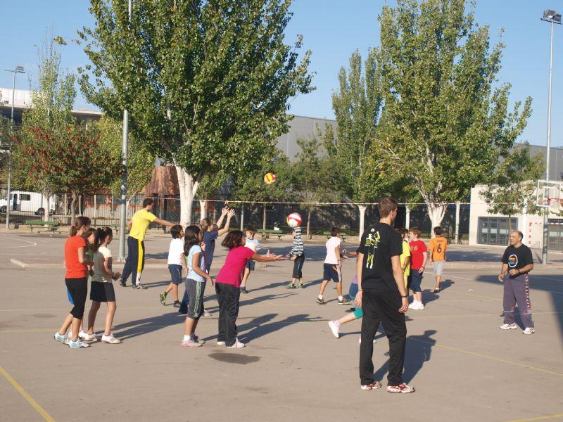 Programación de clinics y actividades de promoción de voleibol del Club Voleibol Zaragoza