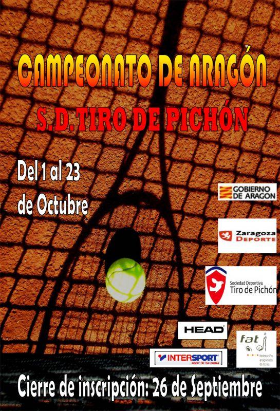 La S. D. Tiro de Pichón acogerá el Campeonato de Aragón Absoluto de Tenis