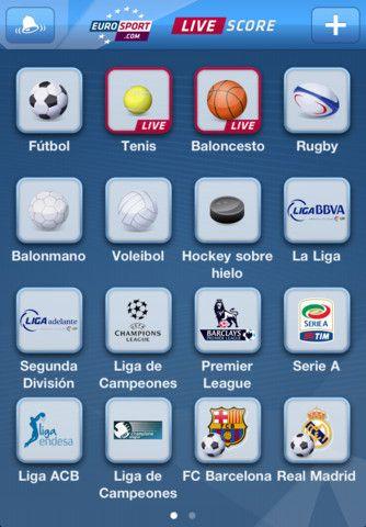 Eurosport lanza su aplicación gratuita «LIVE Score» para iPhone con resultados en directo de competiciones deportivas