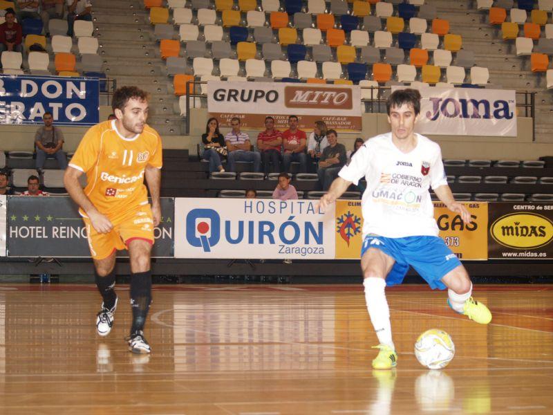 Umacon Zaragoza consigue su primera victoria en el Siglo XXI, tras imponerse por 3-2 a Benicarló F.S.