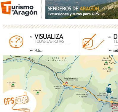 «Senderos de Aragón», página web con casi 600 excursiones y rutas para GPS por los caminos aragoneses