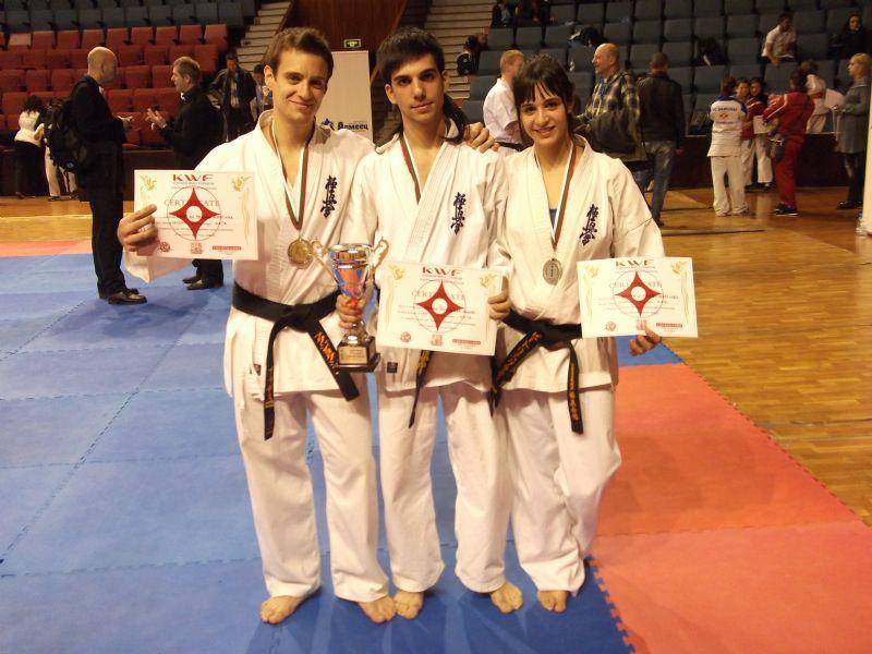 Excelentes resultados de los componentes aragoneses del Budo Karate Club en el Campeonato de Europa de Karate Kyokushin