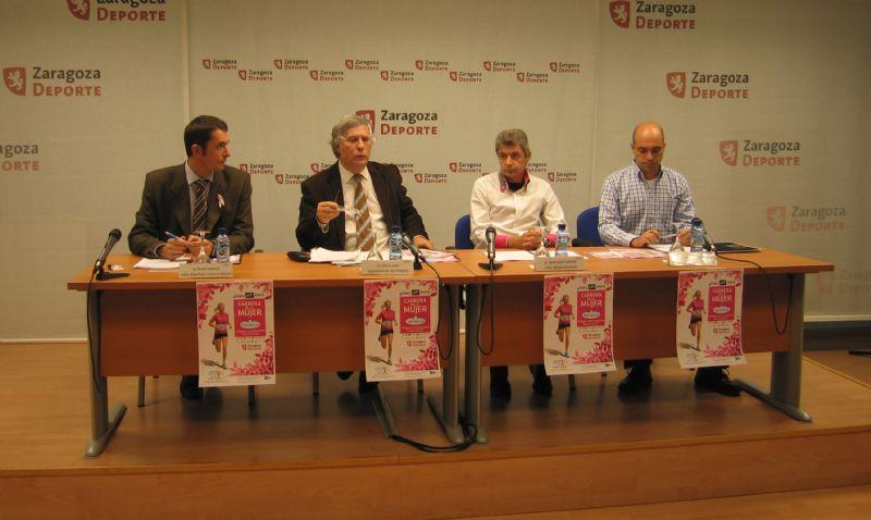 Presentada la «Carrera de la Mujer 2011» que se disputa este domingo en Zaragoza