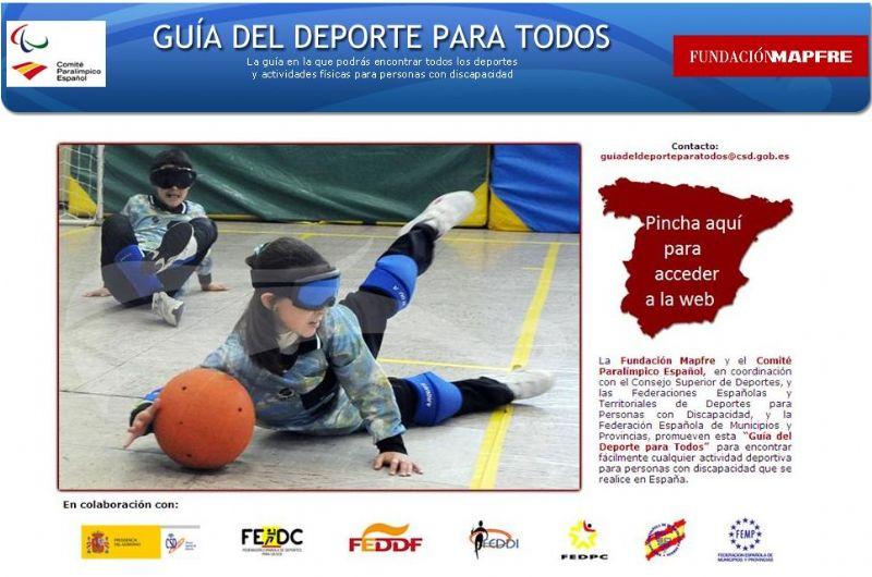 El CSD presenta la «Guía del deporte para todos», un buscador on-line de actividades deportivas para personas con discapacidad