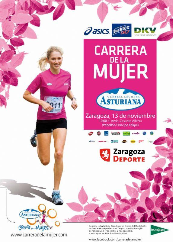Agotados los dorsales para participar en la XIV «Carrera de la Mujer» de Zaragoza