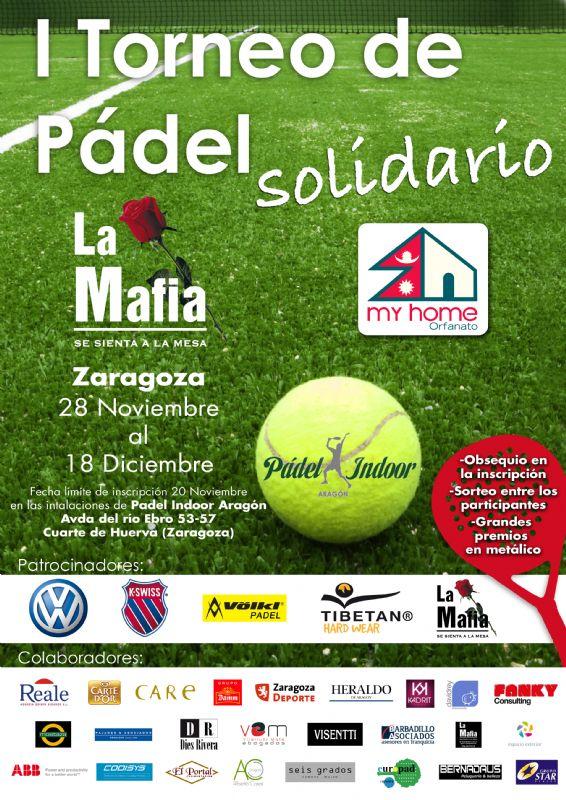 Torneo de pádel solidario organizado por «La Mafia se Sienta a la Mesa»