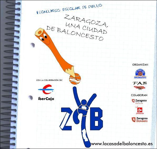 V Concurso Escolar de Dibujo «Zaragoza, una ciudad de Baloncesto»