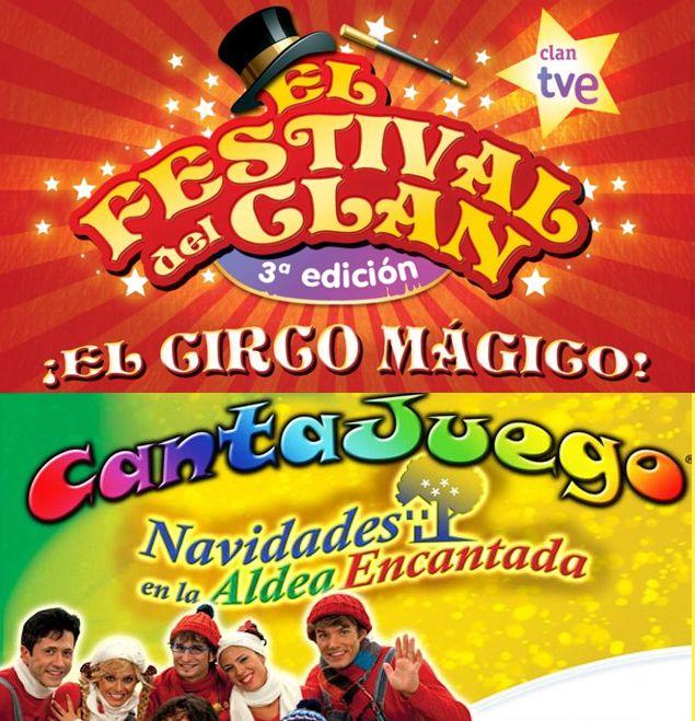«El Festival del Clan» y «Cantajuego» dos espectáculos infantiles que visitan Zaragoza estas navidades