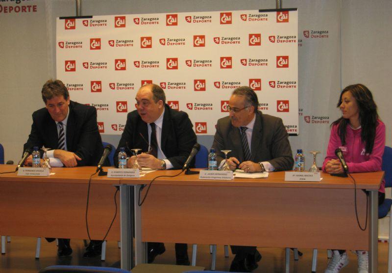 Presentado el Gran Premio «CAI - Ciudad de Zaragoza» de Atletismo en Pista Cubierta que se disputará este sábado en Zaragoza