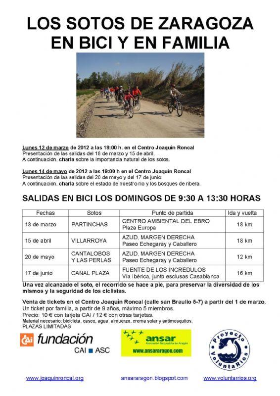 Los Sotos de Zaragoza, en bici y en familia