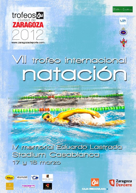Melquiades Alvarez y Jessica Vall, vencedores del VII Trofeo Internacional «CAI-Ciudad de Zaragoza» de Natación