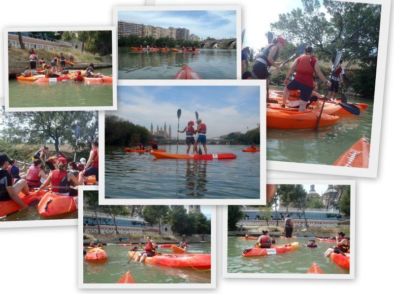 El Club Náutico de Zaragoza ofrece paseos guiados en canoas por el Ebro