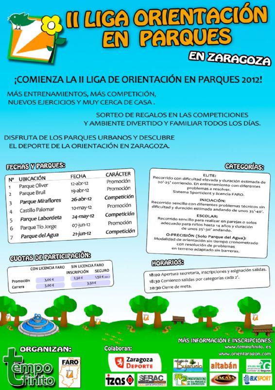2ª Liga de orientación en parques de Zaragoza