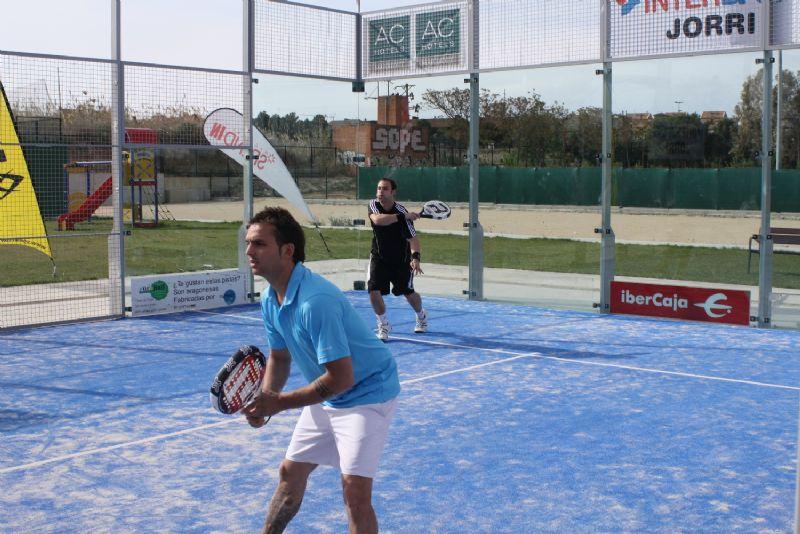 Primeras finales del Torneo Intersport Jorri en Pádel Zaragoza
