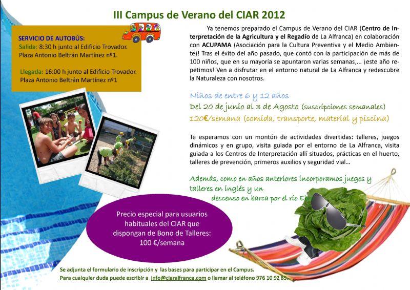 Campus Infantil de Verano en La Alfranca