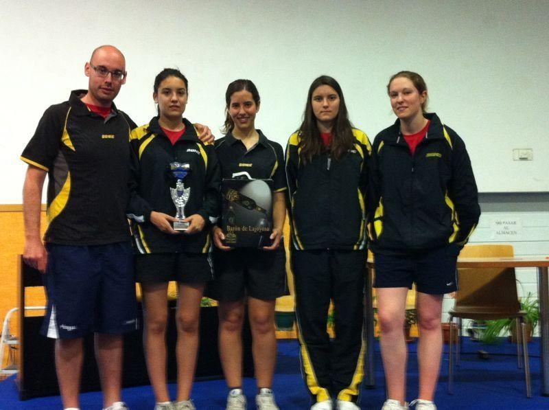 El School Zaragoza asciende a División de Honor Femenina de Tenis de Mesa