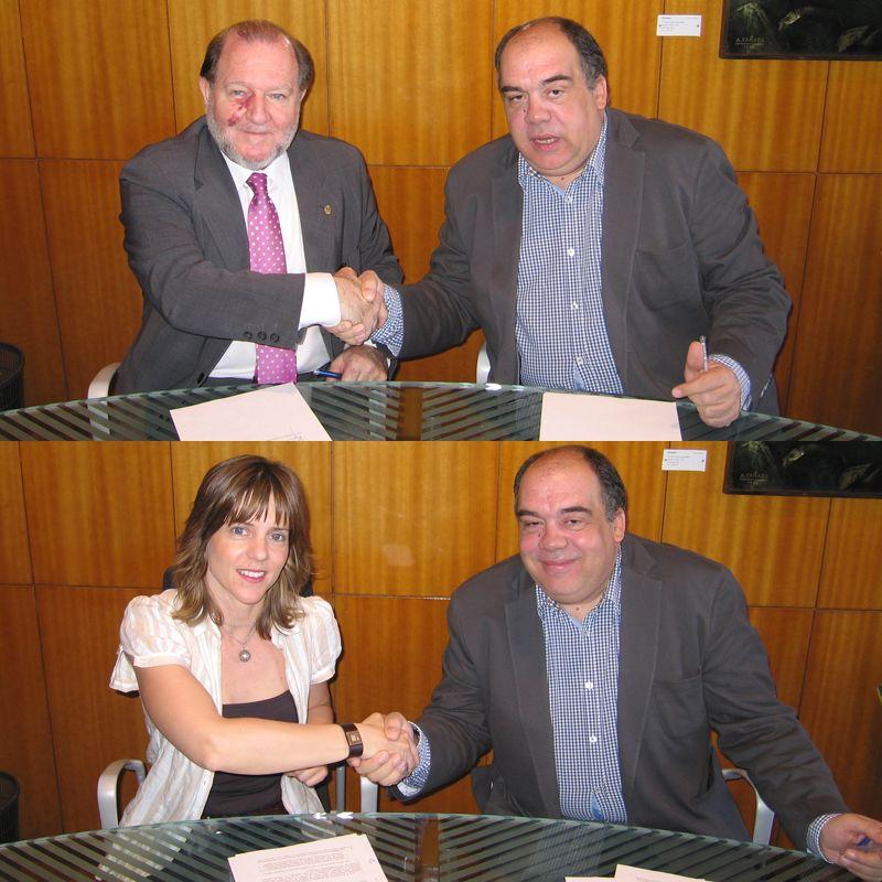 Firma de los primeros miembros asociados del «Observatorio del Deporte de Zaragoza»