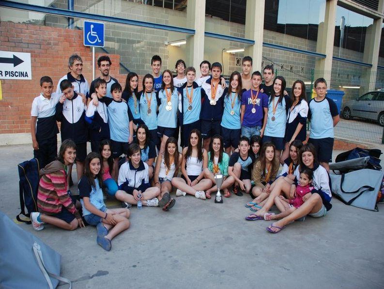El Club Aragonés de Actividades Subacuáticas CADAS, campeón de España Infantil y Cadete de Natación con Aletas