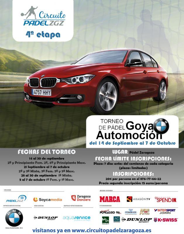Arranca el Torneo «BMW Goya Automoción» en Pádel Zaragoza