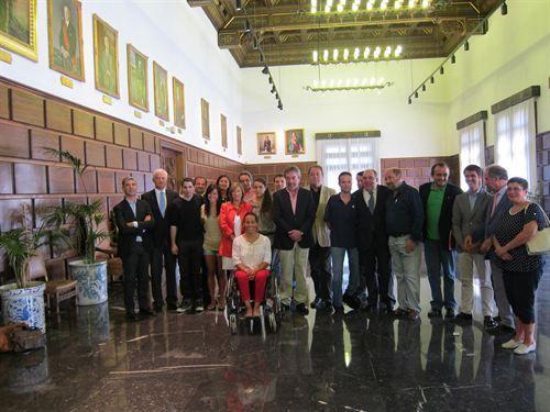 El Alcalde de Zaragoza recibió a los deportistas zaragozanos participantes en Londres 2012