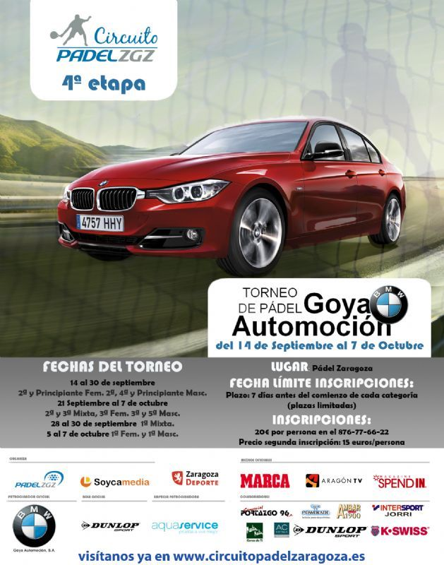 Este fin de semana se disputan las finales del Torneo de Pádel «BMW Goya Automoción»