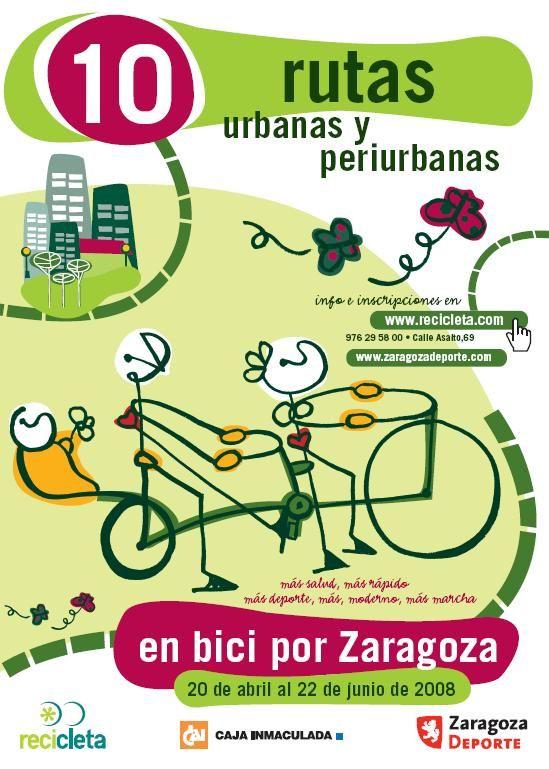 En bici por Zaragoza...10 rutas urbanas y periurbanas