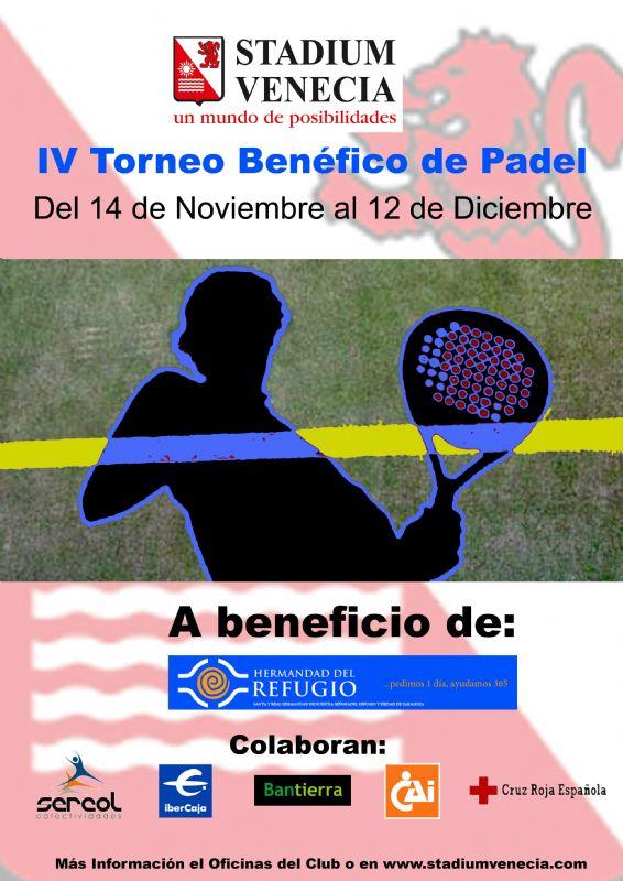 Torneo de Pádel a beneficio de la «Hermandad de El Refugio» en Stadium Venecia