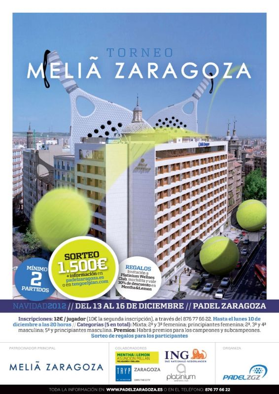Torneo de Navidad de Pádel «Meliá Zaragoza»