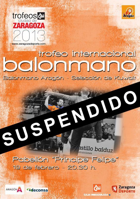 Suspendido el Trofeo Internacional «CAI - Ciudad de Zaragoza» de Balonmano