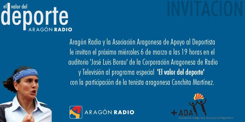 Programa especial abierto al público sobre «El valor del deporte» en Aragón Radio