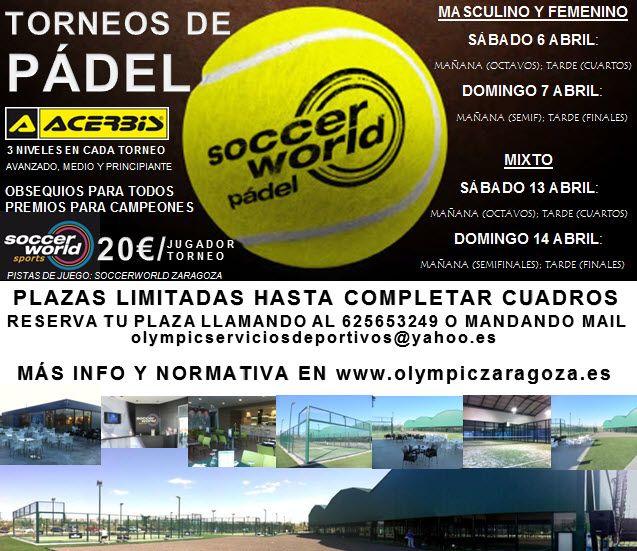 Inscripciones abiertas para el Torneo de Pádel ACERBIS