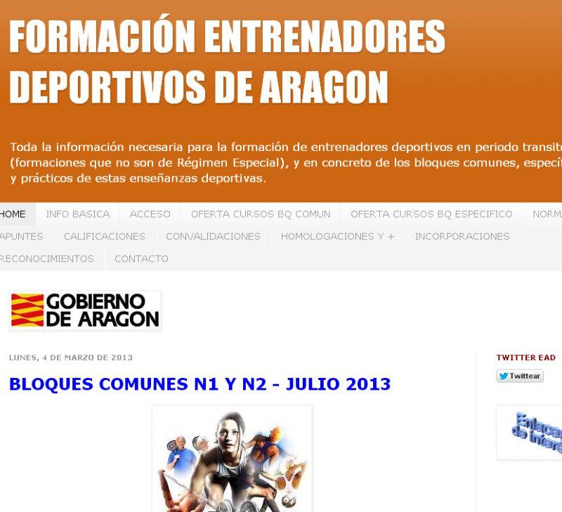 Nuevo Blog sobre formación deportiva en Aragón