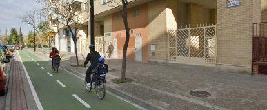 Comienzan las obras del carril bici de Miguel Servet