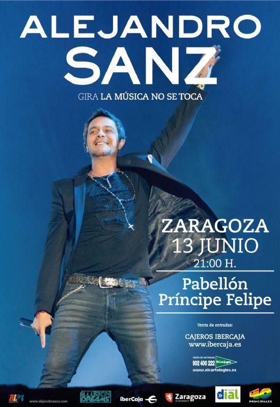 Alejandro Sanz actuará en Zaragoza el 13 de junio