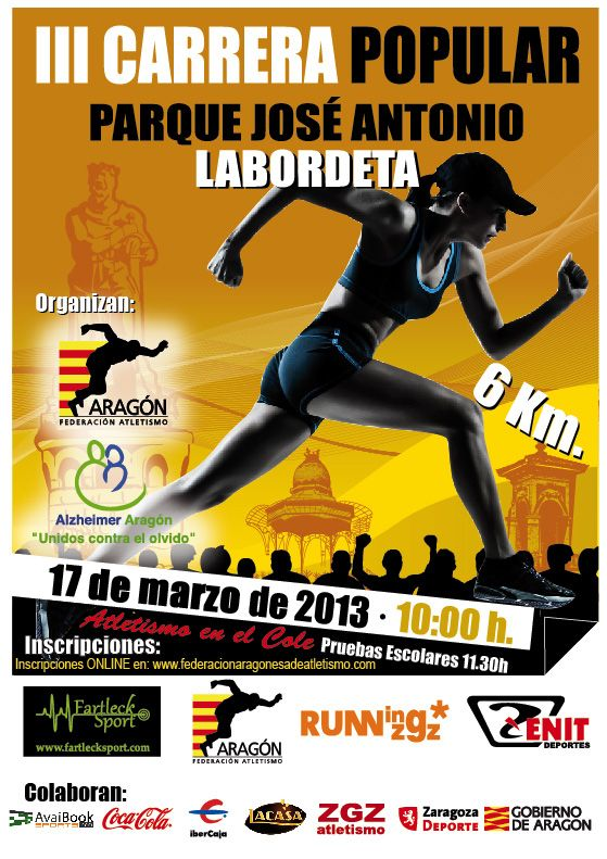 Este domingo 17 de marzo se disputa la Carrera Popular «Parque José Antonio Labordeta»
