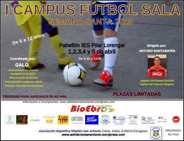 I Campus de Semana Santa de Fútbol Sala «A. D. HISA»