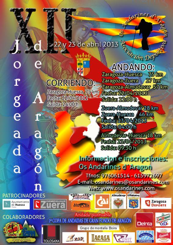Abierto el plazo de inscripción de la XII Jorgeada de Aragón 2013