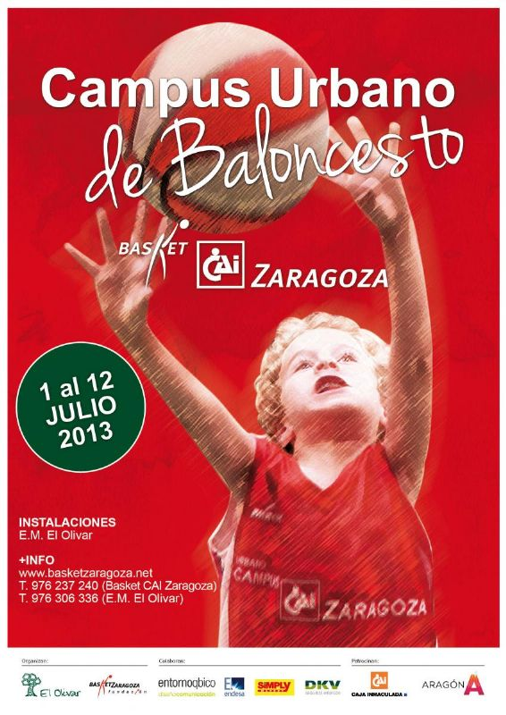 Inscripciones abiertas para el Campus Urbano de Baloncesto del CAI Zaragoza