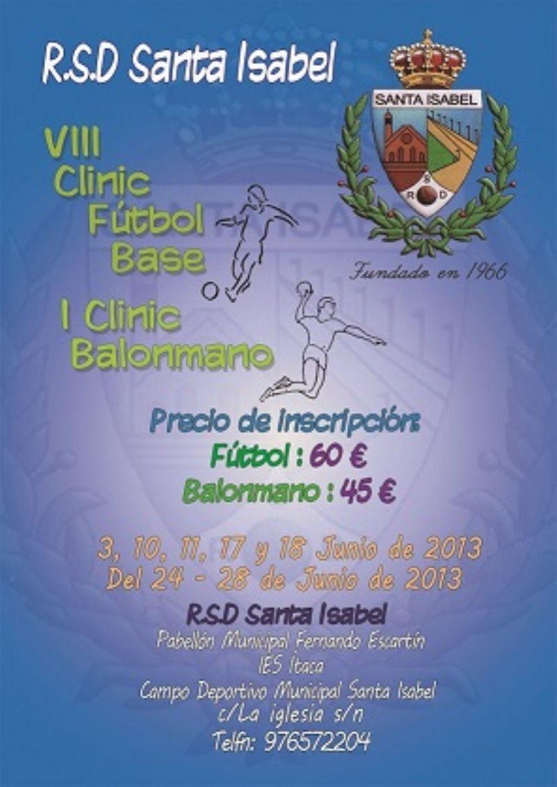 Clinic de Fútbol Base y Balonmano Base de la RSD Santa Isabel