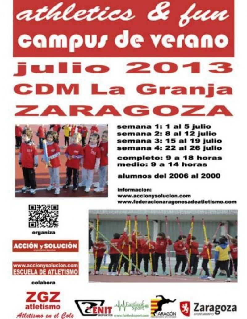 Campus de Verano «Athletics & Fun» en el CDM La Granja