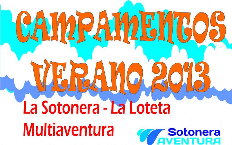Campamentos de verano multiaventura 2013 en los embalses de La Sotonera y La Loteta