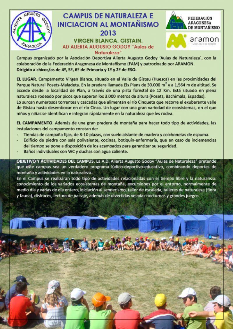 Campus de Naturaleza e Iniciación al Montañismo