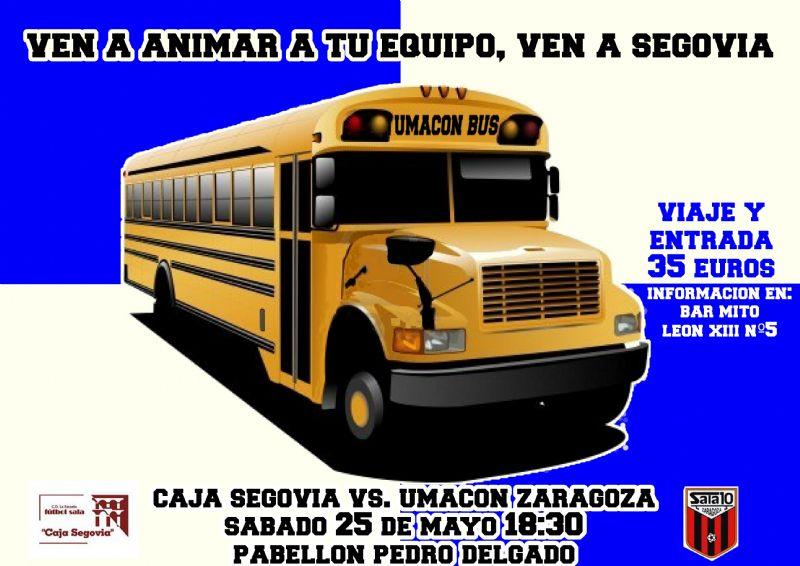 Umacon Zaragoza organiza un viaje a Segovia para animar al equipo