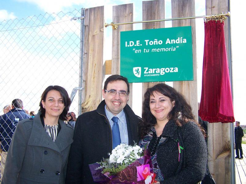 El «potrero» de Rosales del Canal pasa a llamarse «Toño Andía» en memoria de este vecino del barrio